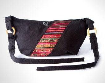 Black Andina Hippie Ethnic Bag / Handmade bag / Beach  bag / Summer tote / weekender bag / Bolivian bag / Peruvian bag / Colorful bag