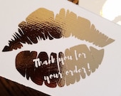Rose Gold Foil Lip Thank ...