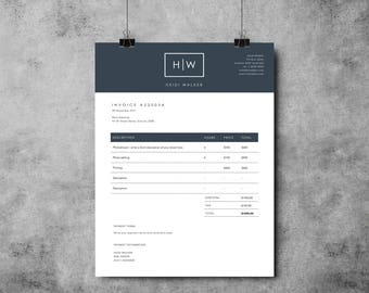 photographer invoice template invoice design receipt template ms word photoshop