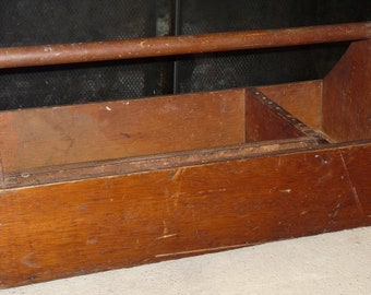Vintage Wooden Shipbuilders Tool Carrier/ Tool Caddy