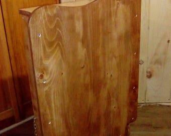 Table à langer pliante murale en bois pour bébé / Folding wall changing table in wood for baby