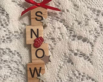 Snow Tile Ornament