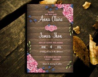 Vintage Rustic Wedding Invitation,Wedding Invitation,Wedding Vintage Invitation,Vintage Invitation,Rustic,Wedding Vintage,Rustic_F021