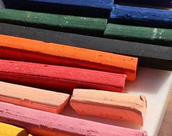 Art Chalk Set // Pretty Chalk Pastels // Art Set // Art Chalk // For Drawing on Paper // Mixed Media Supplies
