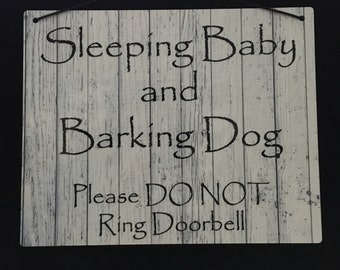Sleeping Baby Sign 5x7