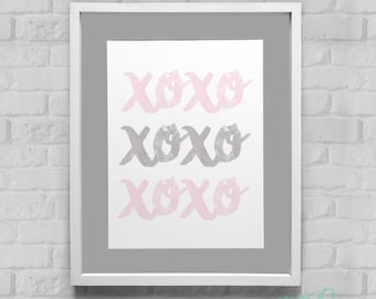 XOXO Instant Download Wall Art 8x10/11x14