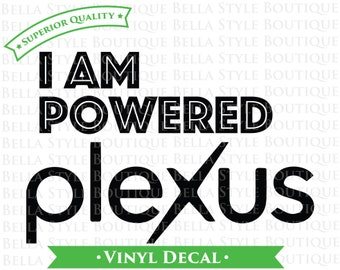 I Am Powered by Plexus VINYL DECAL