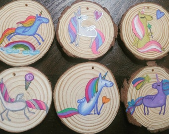 Unicorn Pony Christmas Ornaments