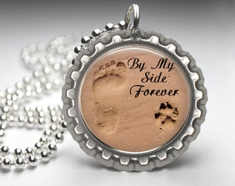 In Memory, Dog Memorial Pendant, Bottlecap necklace, Dog Memorial Chain, PT001