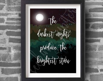 The Darkest Nights - A4 Art Print
