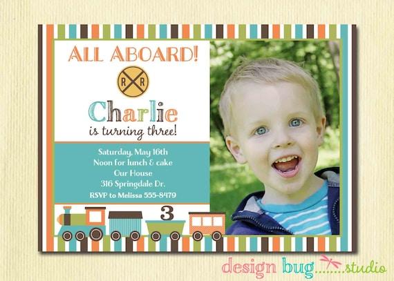Boys birthday train invitation chevron invitation any age stopboris Choice Image