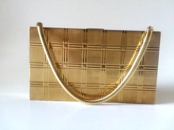 Vintage Evans Gold Clutch Art Glam 40s Cigarette Case