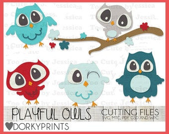 Owl Cuttable Files -For Use with Cutting Machines - svg, mtc, pdf, gsd, and wpc files, Owl SVG