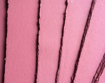 Dark pink paper, handmade paper, eco friendly paper, recycled paper, textured paper, homemade paper, decorative paper, pink paper