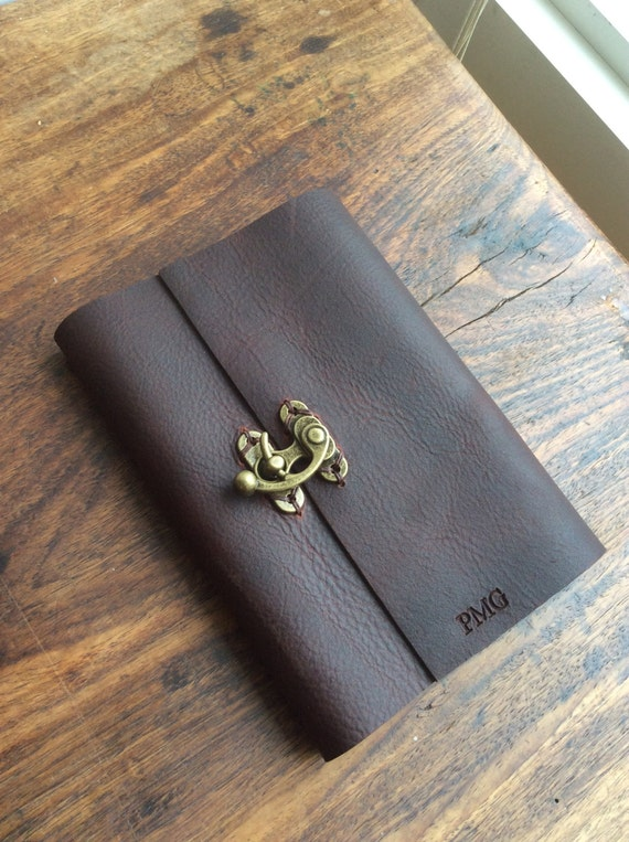 Leather journal cover 5 x 7 notebook Leather dairy Handmade