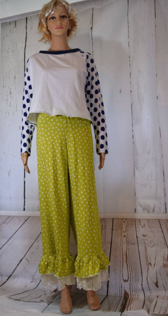 Women's Lace Ruffle Pants