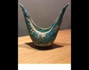 Welsh ceramic sculptural vessel