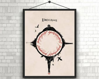 The Lord of the Rings Artwork Minimal unique Poster