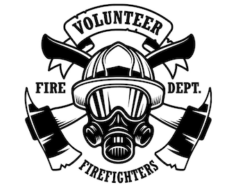 Firefighter Logo 3 Firefighting Rescue Shield Flag Engine