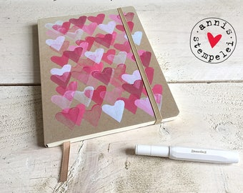 """leave a comment/letter book """"A5 heart"""", request text,"""