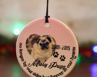 Pet memorial ornament, pet ornament, custom ornament, christmas ornament, personalized christmas ornament, pet Christmas ornament #OR595