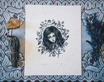 The Green Witch original art
