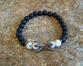 Dragon Claw Bracelet men bracelet, gemstone beaded bracelet, men beaded bracelet, gemstone Jewelry, Gifts for men, Gift for men, men jewelry