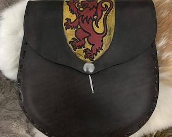 Scottish Lion Leather Sporran