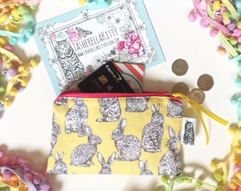 Exclusive Print Handmade Zip Purse - by TasherellaKitty Designs