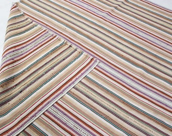 "Brown Tribal Rug, Kilim Area Rug, Hand knotted Rug, Striped Design Rug, Oriental Rug, Traditional Rug, Wool Kilim Rug, 6'10"" x 9'4"" , S2453"