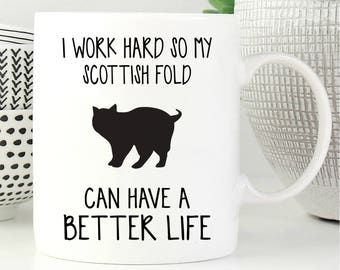 Scottish Fold Mug, Scottish Fold Cat, Cat Mug, Cat Lover Gift, Coffee Mug, Cat Coffee Mug, Funny Cat Mug, Cat Gift, Cute Cat Mug