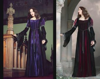 Velvet Medieval Style Dress - Size XS