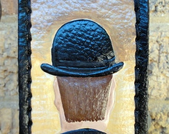 Luggage Tag with Magritte\u0027s Bowler Hat & Magritte bowler hat | Etsy
