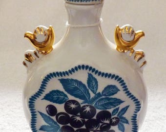 A Russian Imperial Porcelain Flask