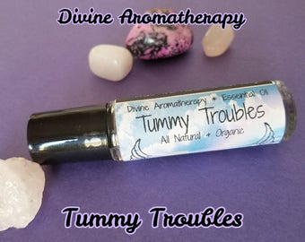Divine Aromatherapy: Tummy Troubles (Gas, Bloating or Upset Tummy) - Organic Essential Oils