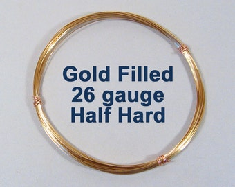 Gold Filled Wire - 26ga HH Half Hard - Choose Your Length