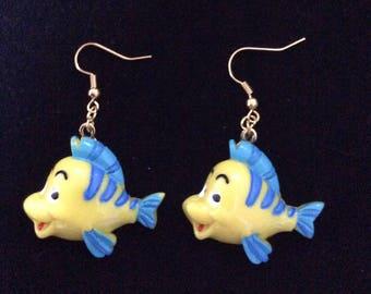 Bone earrings, fish of Ariel The Little Mermaid