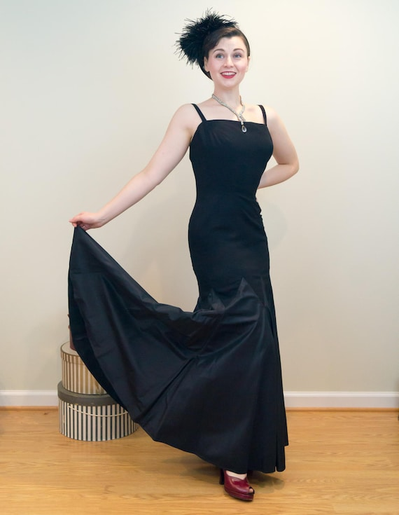 Lower Circle SHOWSTOPPING Evening Skirt Mermaid Gown 1950s with xSSZY7X
