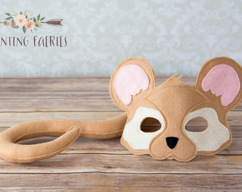 Owen the Brown Mouse Mask for pretend play