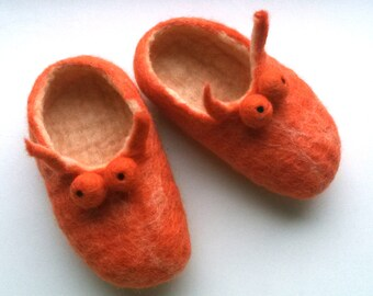 Felted slippers for kids