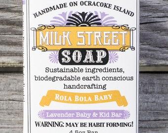 Baby Soap - Kid Soap - Lavender Soap - Citrus Soap - Rola Bola Baby - Goat Milk Soap