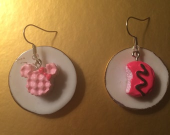 Kawaii Cake and Donut Earrings