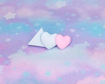 Kawaii Kei Fairy Kei Sweet Girl Falling Stars Shooting Star Resin Lilac Glitter Heart Pastel Hair Clip Barrette
