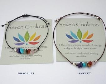 7 Chakras bracelet anklet Seven