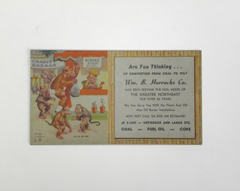1950's Advertising Card