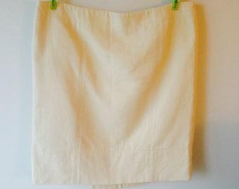 Vintage Fendi cream off-white mini short skirt