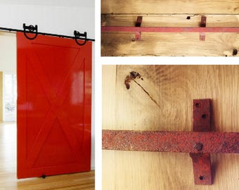 Antique, Barn Door Track, Sliding Track, 8- Foot of track in two pieces, Hardware, Supplies, Rustic, Steel, Vintage, Industrial