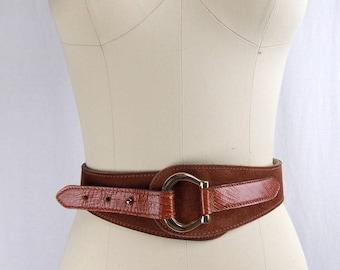 Calderon Equestrian Style Leather Belt, Medium