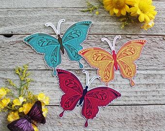 Zentangle Butterfly Waterproof Sticker