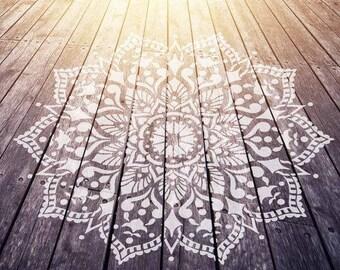 Mandala Stencil Passion - Mandala Stencil for Furniture, Walls, or Floors - DIY Home Decor - Better than Decals